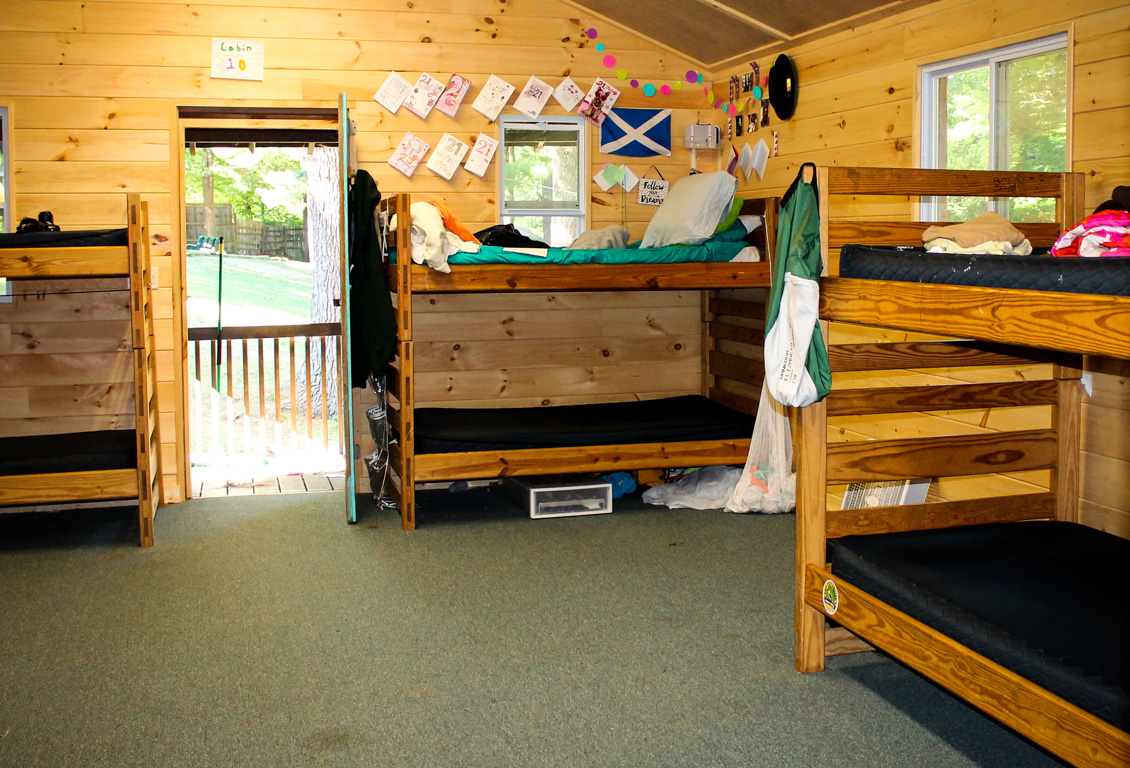 Chinqueka camp cabin interior view